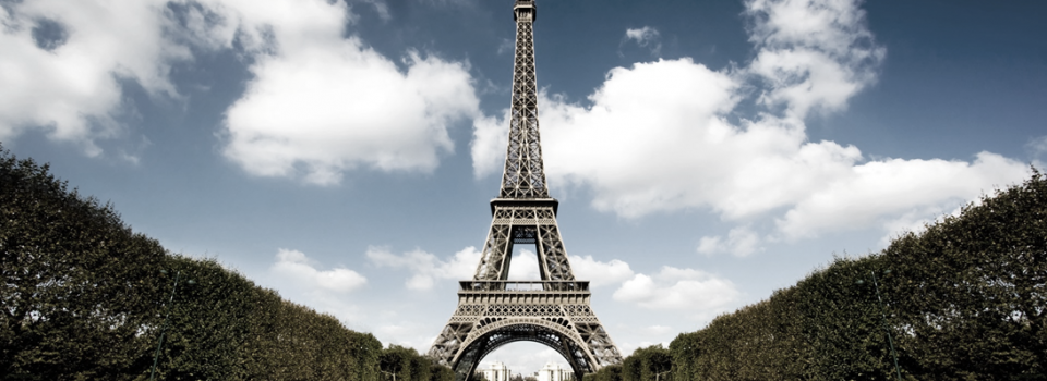 Eiffel Tower Subdued - Cropped